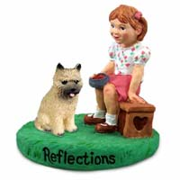 Cairn Terrier Red Reflections w/Girl Figurine