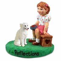 Kuvasz Reflections w/Girl Figurine