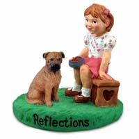 Bullmastiff Reflections w/Girl Figurine
