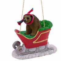 Bear Brown Sleigh Ride Ornament