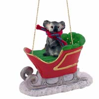 Koala Sleigh Ride Ornament