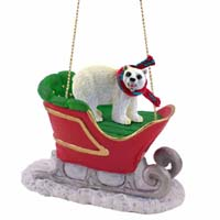 Bear Polar Sleigh Ride Ornament
