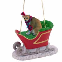 Cougar Sleigh Ride Ornament