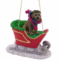 Lion Sleigh Ride Ornament
