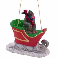 Mandrill Sleigh Ride Ornament