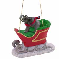 Elephant Sleigh Ride Ornament