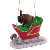 Buffalo Sleigh Ride Ornament