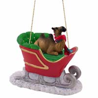 Camel Bactrian Sleigh Ride Ornament