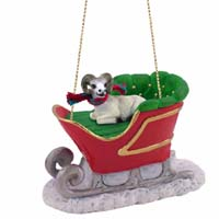 Dahl Sheep Sleigh Ride Ornament