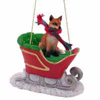 Fox Red Sleigh Ride Ornament