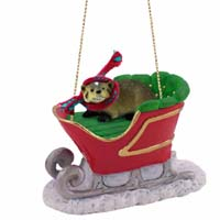 Badger Sleigh Ride Ornament