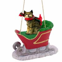 Bobcat Sleigh Ride Ornament