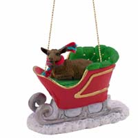Goat Brown Sleigh Ride Ornament
