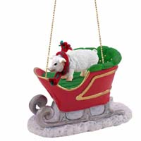 Pig Pink Sleigh Ride Ornament