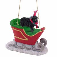 Sheep Black Sleigh Ride Ornament