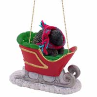Porcupine Sleigh Ride Ornament