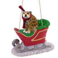 Jaguar Sleigh Ride Ornament