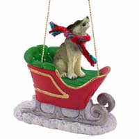 Wolf Timber Sleigh Ride Ornament