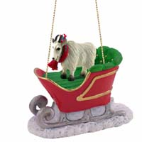 Mountain Goat Sleigh Ride Ornament