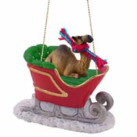 Camel Dromedary Sleigh Ride Ornament