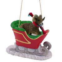 Big Horn Sheep Sleigh Ride Ornament