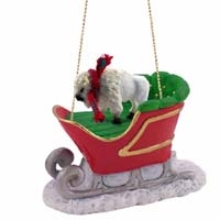 Buffalo White Sleigh Ride Ornament