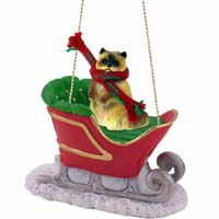 Ragdoll Sleigh Ride Ornament