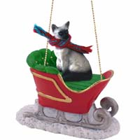 Siamese Sleigh Ride Ornament