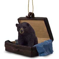 Bear Black Traveling Companion Ornament