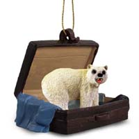 Bear Polar Traveling Companion Ornament