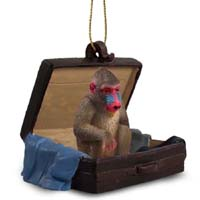 Mandrill Traveling Companion Ornament