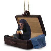 Chimpanzee Traveling Companion Ornament