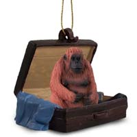 Orangutan Traveling Companion Ornament