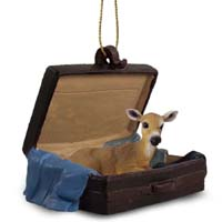 Deer Doe Traveling Companion Ornament