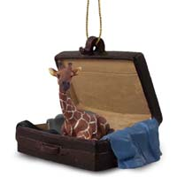 Giraffe Traveling Companion Ornament