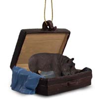 Hippopotamus Traveling Companion Ornament