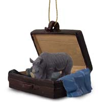 Rhinoceros Traveling Companion Ornament