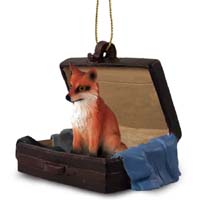 Fox Red Traveling Companion Ornament