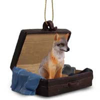 Fox Gray Traveling Companion Ornament