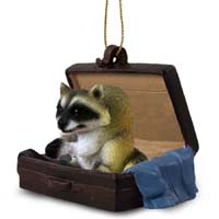 Raccoon Traveling Companion Ornament