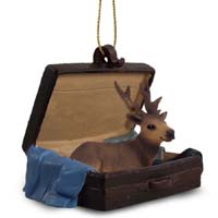 Elk Bull Traveling Companion Ornament