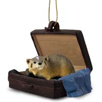 Badger Traveling Companion Ornament