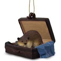 Beaver Traveling Companion Ornament