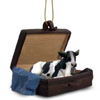 Holstein Bull Traveling Companion Ornament