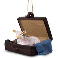 Goat White Traveling Companion Ornament