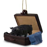 Pig Black Traveling Companion Ornament