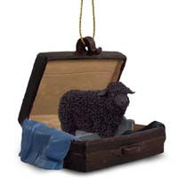 Sheep Black Traveling Companion Ornament