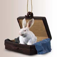 Rabbit White Traveling Companion Ornament