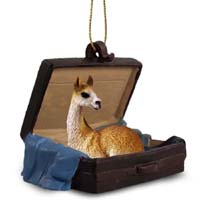 Llama Traveling Companion Ornament