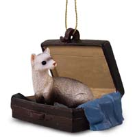 Ferret Traveling Companion Ornament